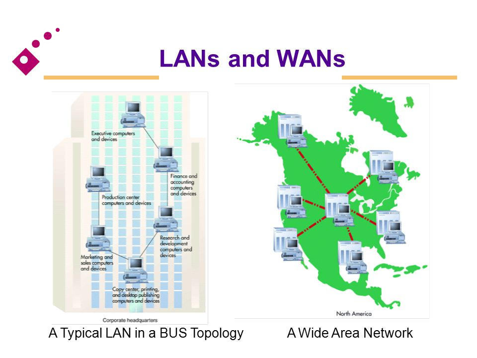 LANs and WANs [Figure 6.18] [Figure 6.19]